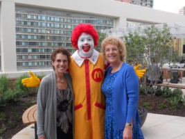 Ronald Mc Donald with Kathy Young and Eileen Gold Kushner